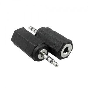 Adapter wtyk Jack 2.5mm stereo na gniazdo Jack 3.5mm stereo